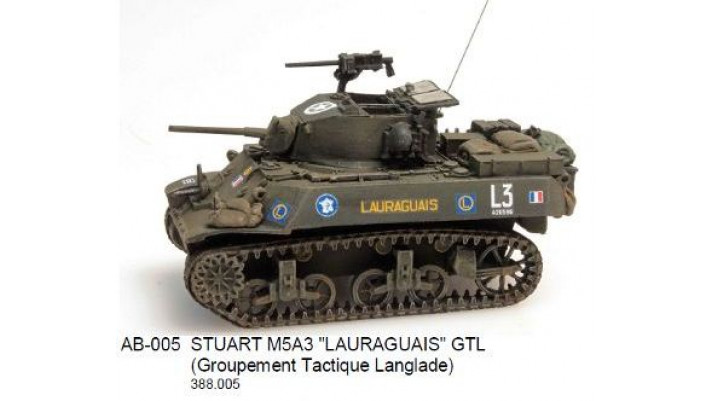 STUART M5A3 LAURAGUAIS GTL (Groupement Tactique Langlade)