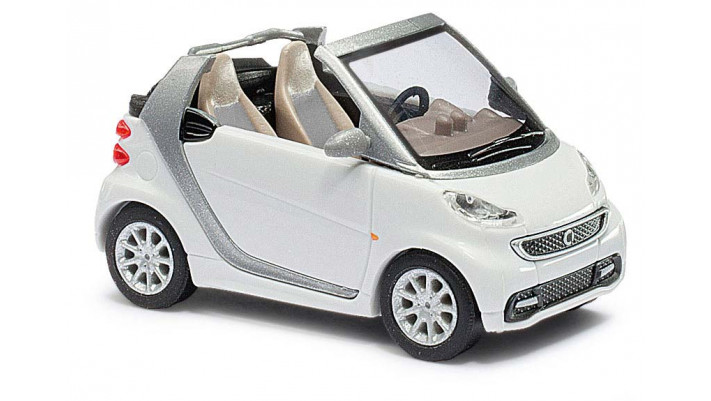 Smart Fortwo Cabrio MOPF blanche métallisé#