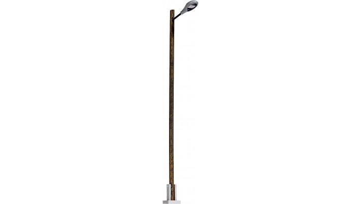Lampe de gare  mât en bois 103 mm TT #