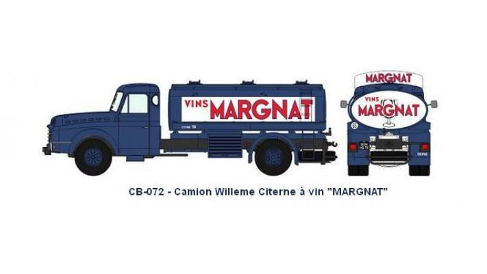 Camion Willeme Citerne à vin   MARGNAT