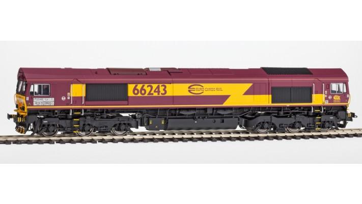 Diesellok, H0, C66 ECR 66247, rot-braun-gelb, EP VI, Vorbildzustand um