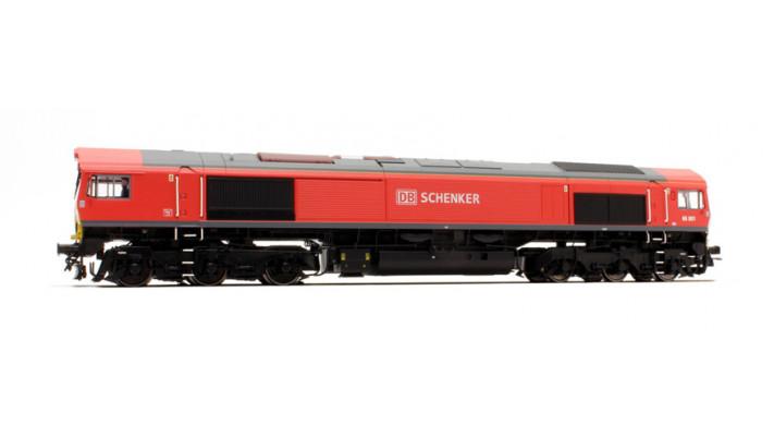Diesellok H0, C66 DB Schenker 66001, verkehrsrot, EP VI, Vorbildzustan