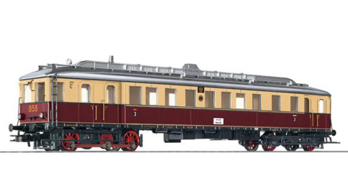 Dieseltriebwagen, H0, VT 858, rot-beige, EP II, Vorbildzustand um 1935