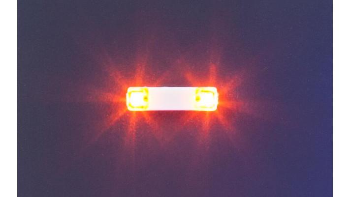 Élect.clignotante 13,5 mm orange