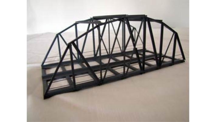 B24-2 - Bogenbrücke 24cm 2-gleisig, grau