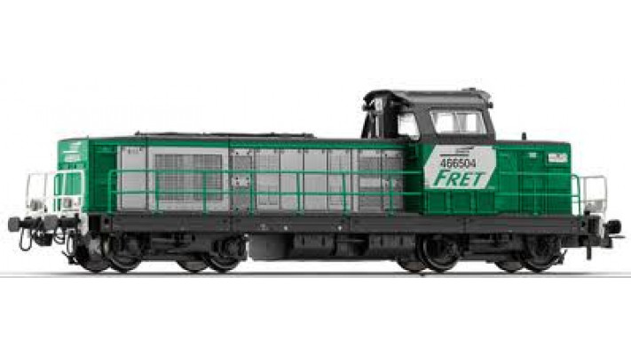 Locomotive Diesel BB66504 Fret, nouvelle immatriculation ##