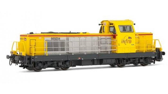 Locomotive Diesel BB 69204 livrée   Infra   jaune