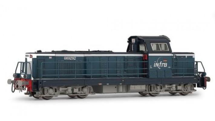Locomotive Diesel BB 69292 livrée   Infra   bleue SNCF