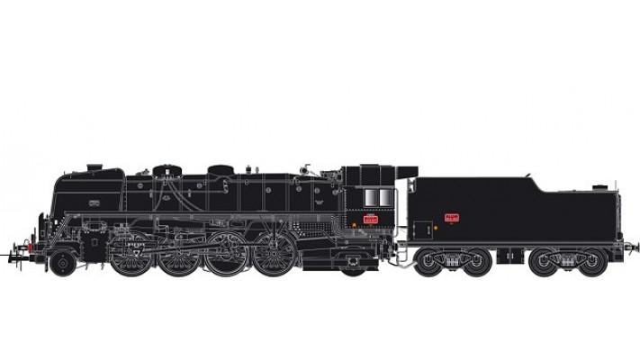 141 R 307 - tender charbon, dépôt de Nevers AC