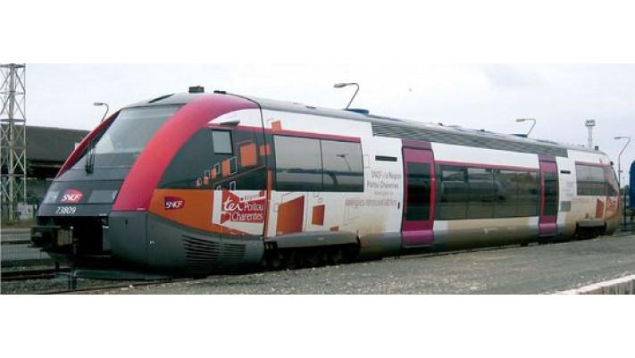Autorail X73500, PHOTOVOLTAIQUE, région Poitou Charentes