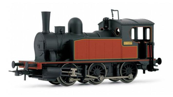 Locomotive tender à vapeur 030 noire et rouge