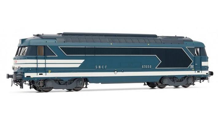 Locomotive Diesel BB 67038 livrée bleue - SNCF SONORISEE #