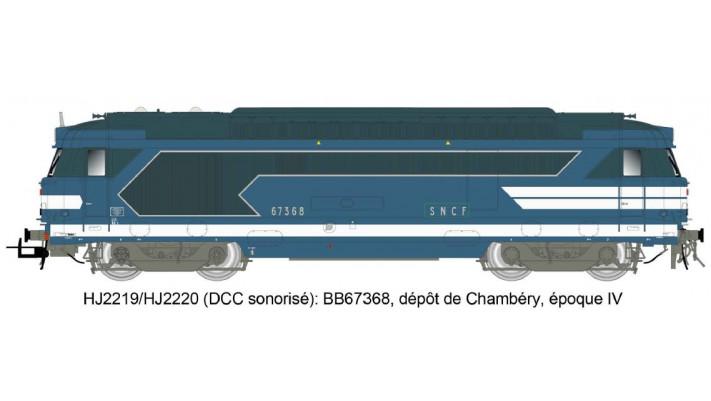 Locomotive Diesel BB 67368 livrée bleue - SNCF#