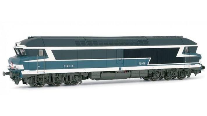 Locomotive Diesel CC72075 livrée bleue SONORISEE