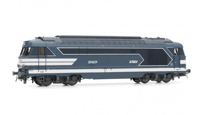 Locomotive Diesel BB 67604, logo  Nouilles  SNCF époque IV