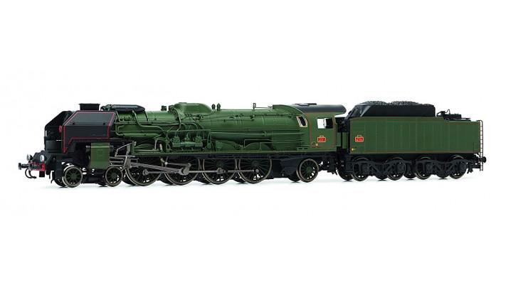 Locomotive à vapeur 241P 1, Tender 34P 75, version années 1950/60, dép