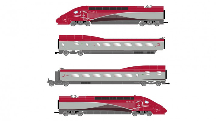 Thalys PBKA, 4-unit pack including motorized head, dummy head and two