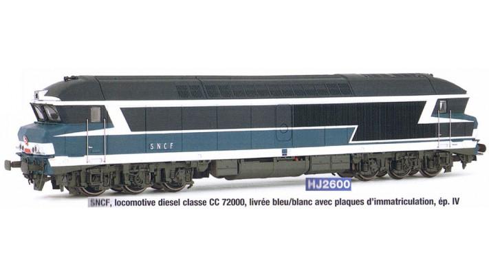 Locomotive Diesel CC 72000 Jouef HJ2600 - HO : 1/87 - SNCF - EP IV