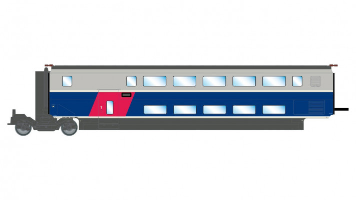 SNCF, TGV 2N2 EuroDuplex, 1st class intermediate coach, period VI, com