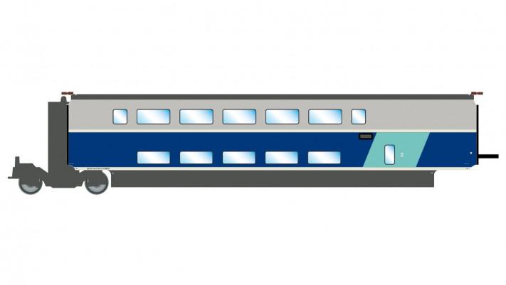 SNCF, TGV 2N2 EuroDuplex, 2nd class intermediate coach, period VI, com
