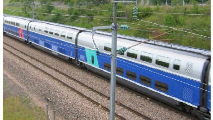 Coffret 3 voitures complé. (bar).TGV DUPLEX SNCF ##