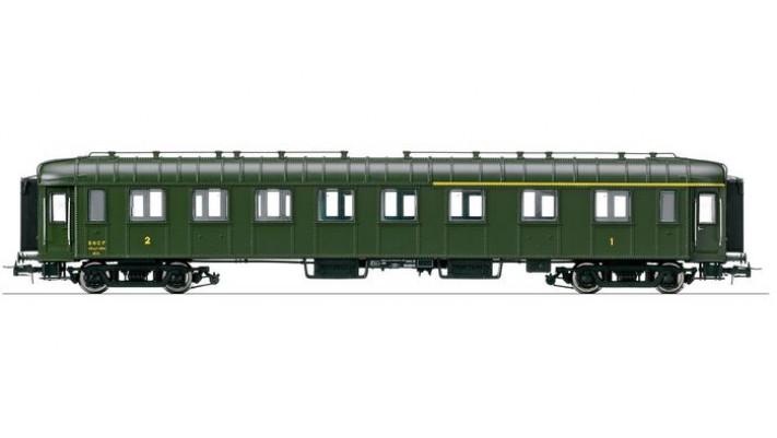 Voiture OCEM RA mixte 1ère et 2ème classe, époque IV, SNCF #