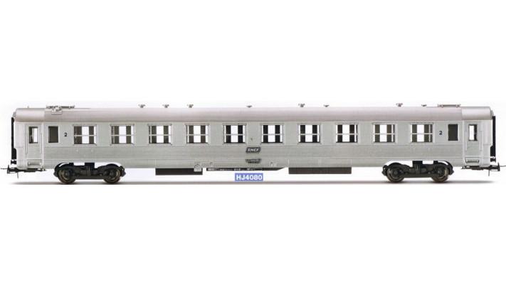 Voiture DEV inox de 2ème classe époque IV, SNCF #