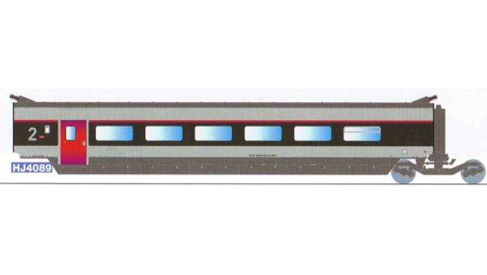 Voiture complémentaire 2ème classe TGV SUD EST   rénové