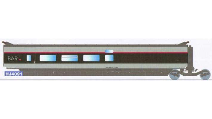 Voiture BAR complémentaire TGV SUD EST   rénové