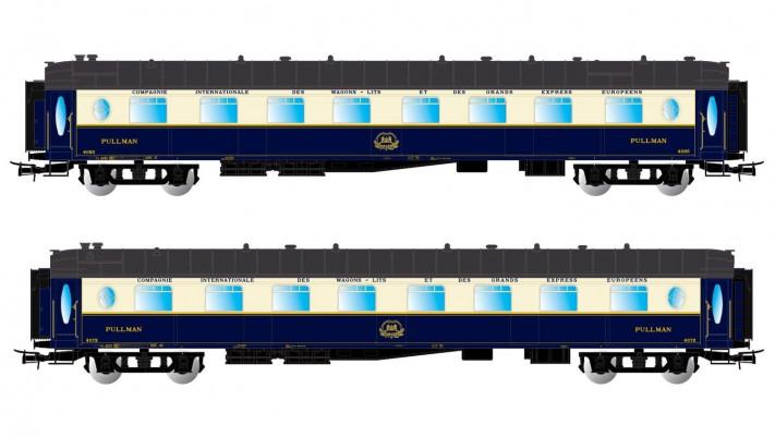 CIWL, 2-unit pack Pullman coaches  Flech d'or , period III