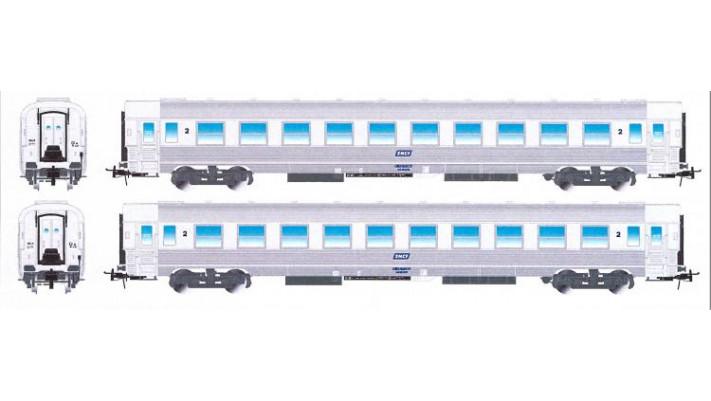 SNCF, set 2 voitures inox