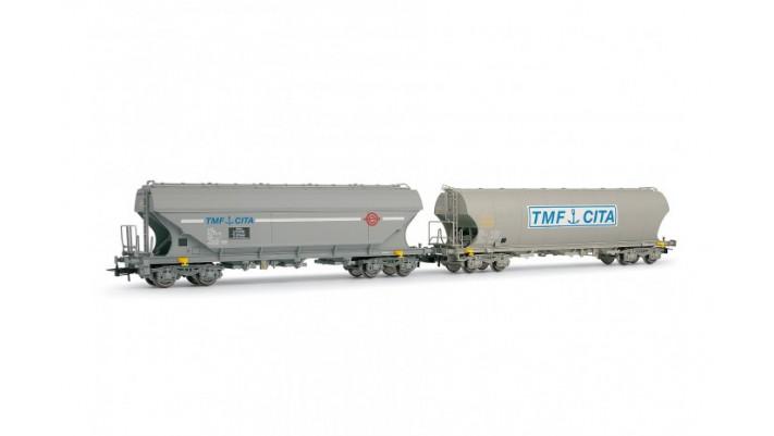 Coffret 2 wagons trémie   TMF CITA   SNCF