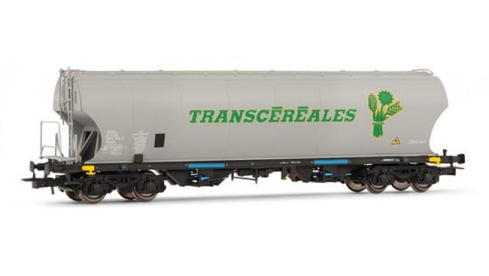 Wagon céréalier à parois latérales bombées   Transcéréales   135 t, S