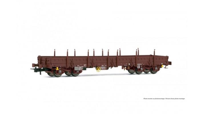 Wagon plat Remms sans chargement, époque IV, SNCF #
