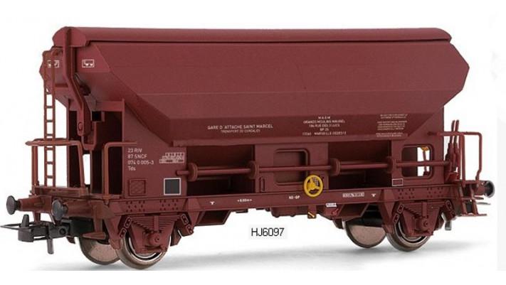 Wagon trémie Tds, transport de céréales, SNCF