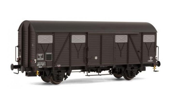 Wagon couvert G4 à frises, époque III, SNCF