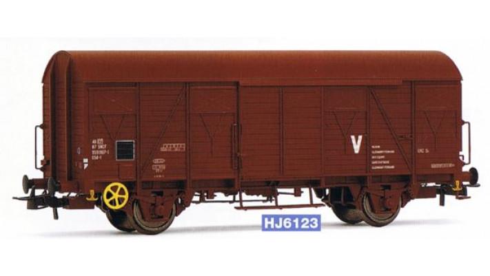 Wagon couvert G54 à frises, époque V #
