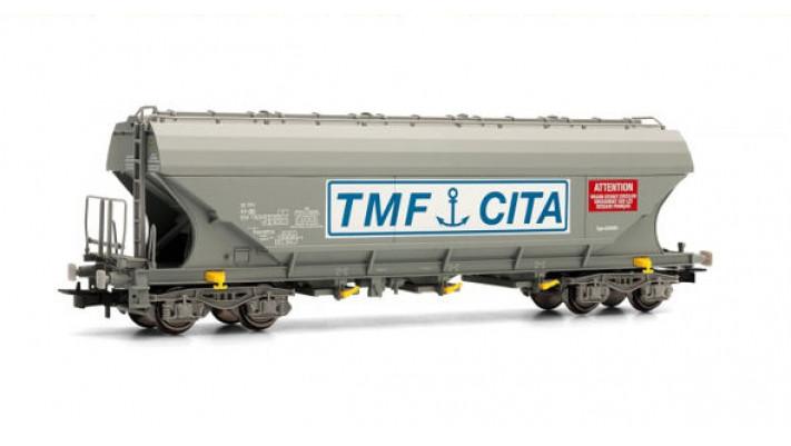 Wagon céréalier à parois latérales planes SNCB uniquement sur réseau f