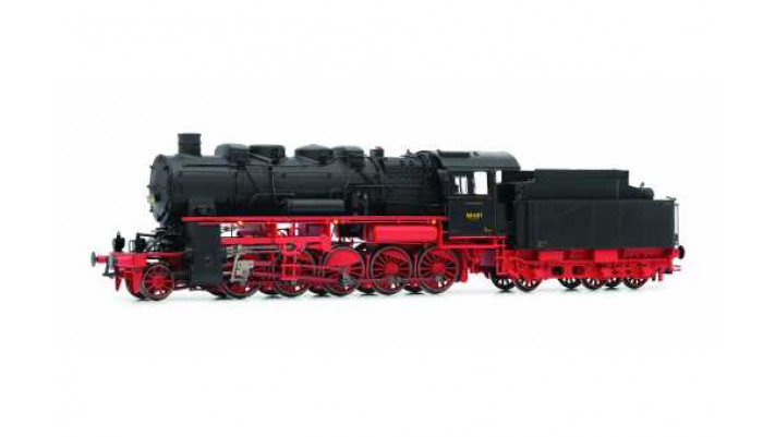 DRG, BR 58 steam locomotive, four-dome version, epoch II, gas lamps, A