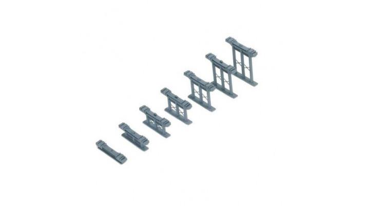 Pïliers pour rail de différentes tailles