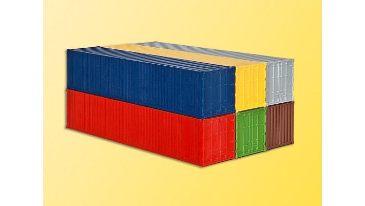 H0 40-Fuss-Container, 6 Stuec