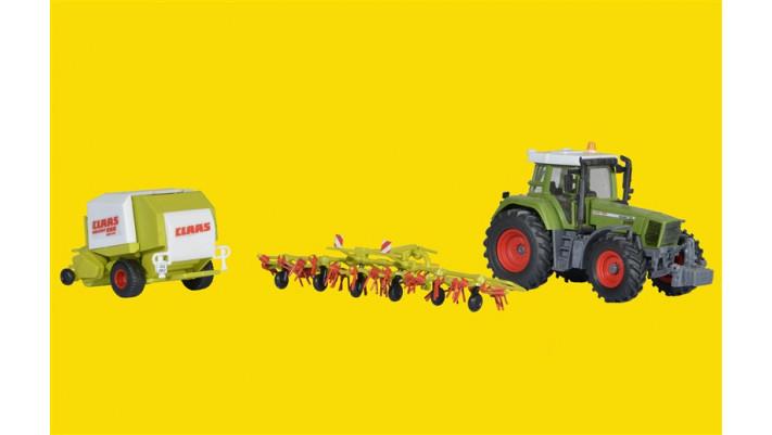 H0 Traktor Fendt mit Anbauger