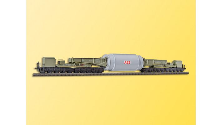 H0 Schienentiefladewagen Uaai