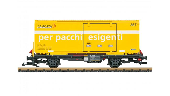 Post Container-Tragwagen RhB
