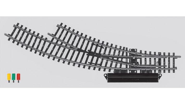 Aiguillage courbe  electrique droit  r360 mm