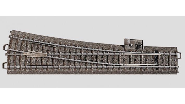 Aiguillage élancé droit  r1114,6 mm