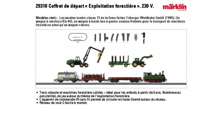 Coffret de départ «Exploitation forestière» 230 V