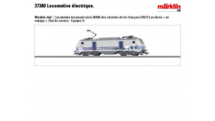E-Lok BB 26000 en voyage SNCF