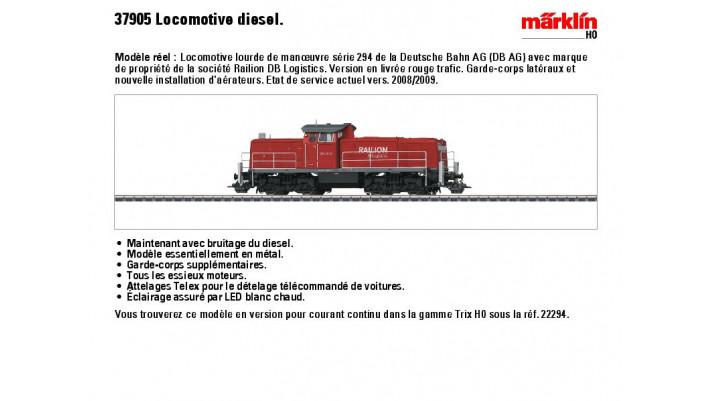 Diesel-Rangierlok BR 294 DB A