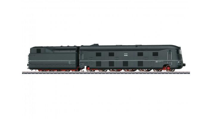 Locomotive à vapeur aérodynamique BR 05 avec tender séparé - DRB époqu